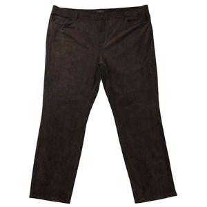 NYDJ Pants size 22W nwt Brown Lightweight Skinny